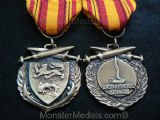 FULL SIZE WW2 DUNKIRK COMMEMORATIVE MEDAL WITH RIBBON.